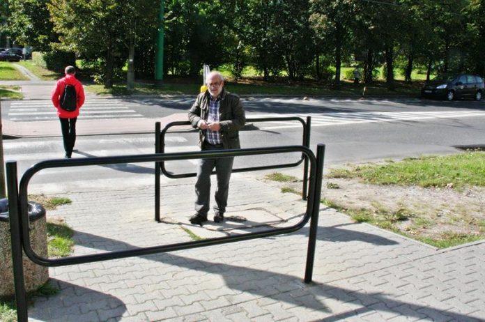 Barierki przed przejściem dla pieszych